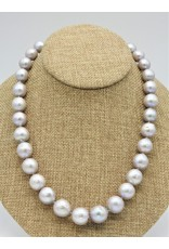 Pam Springall PS-N13C Silver Round Pearls