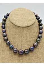 Pam Springall Lg Multi Iridesent Pearls Necklace