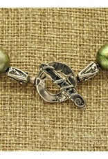 Pam Springall PS-N130C Lg Green Baroque Pearls