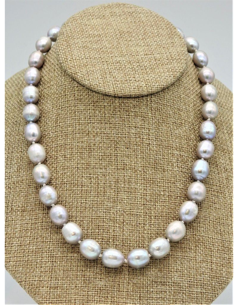 """Pam Springall PS-N233C Lg Rice Pearls 20"""""""