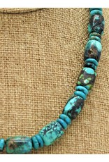 Pam Springall PS-N179C Chinese Turquoise Barrels & Rondells
