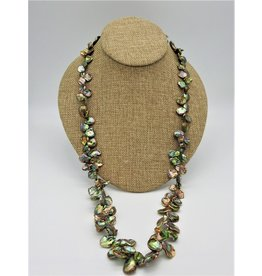 """Pam Springall PS-N5C 36"""" Olive Keshi Pearls"""