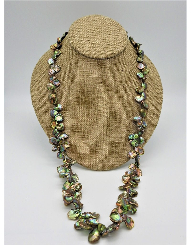 "Pam Springall PS-N5C 36"" Olive Keshi Pearls"