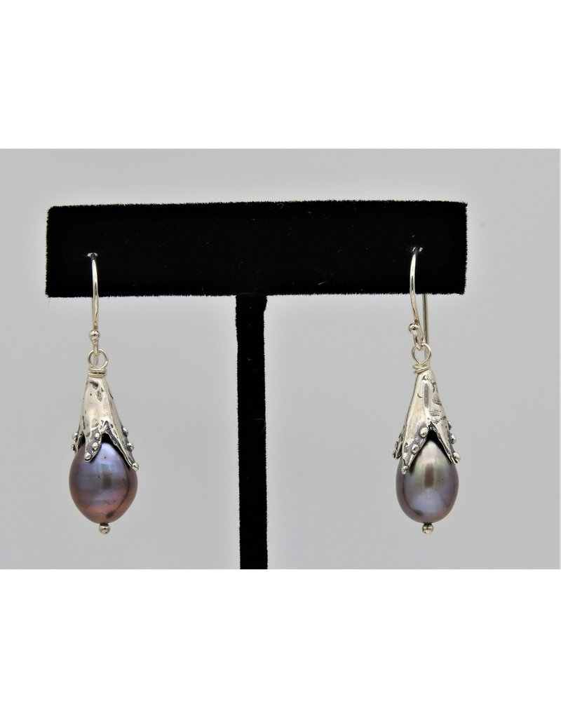 Pam Springall SS w/ Tuape Pearl Snowdrop earrings