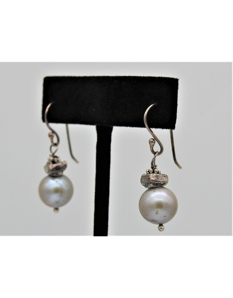 Pam Springall PS-E88C SS & Silver Pearl on wire