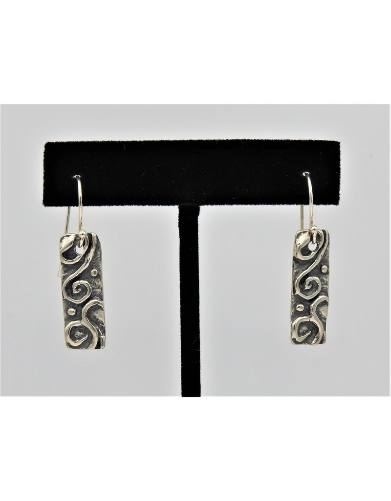 Pam Springall PS-E221C Silver Scroll on wire