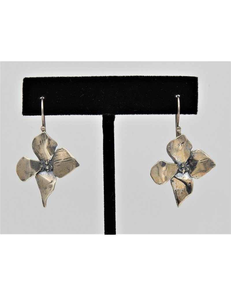 Pam Springall PS-E73C Sterling Silver Flowers on wire