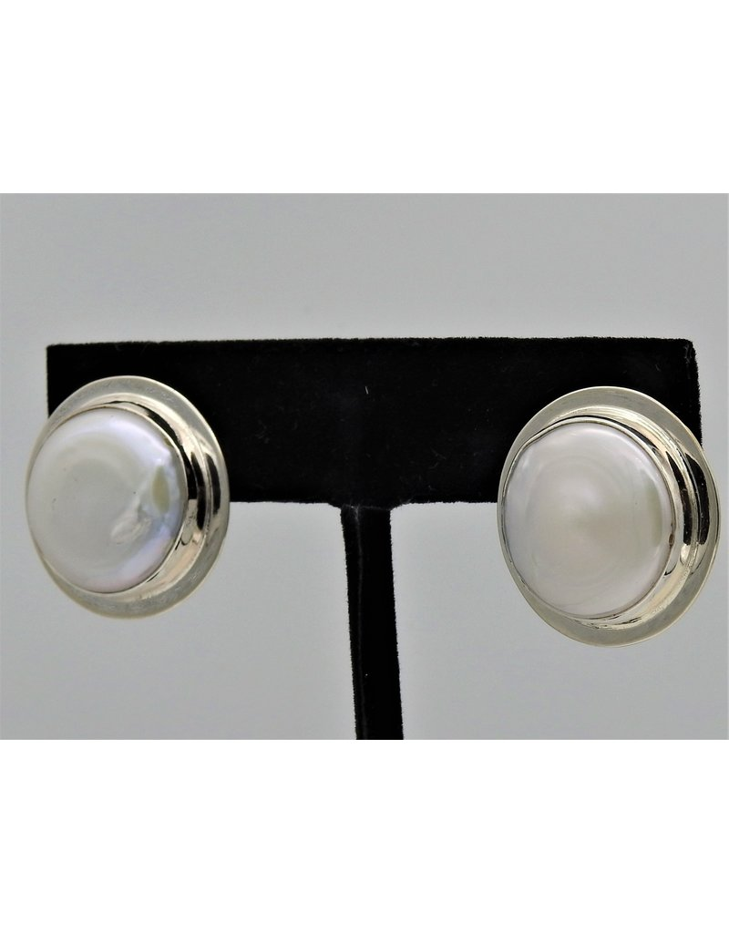 Pam Springall Large Coin Pearl Clips