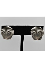 Pam Springall PS-E232C Sterling scallop shells earrings clips