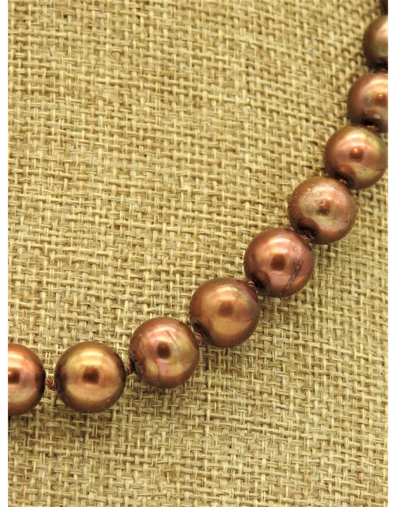 Pam Springall PS-N34C Chocolate Rnd Pearls