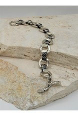 Pam Springall PS-B149C SS Rings, Square Spiral links w/ toggle clasp