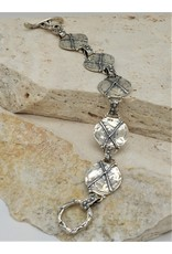 Pam Springall PS-B165C  SS X Rounds linked, toggle clasp