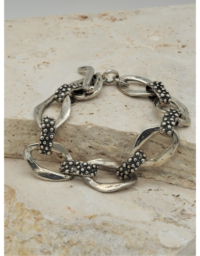 Pam Springall SS Many Dots & Loops Link Bracelet