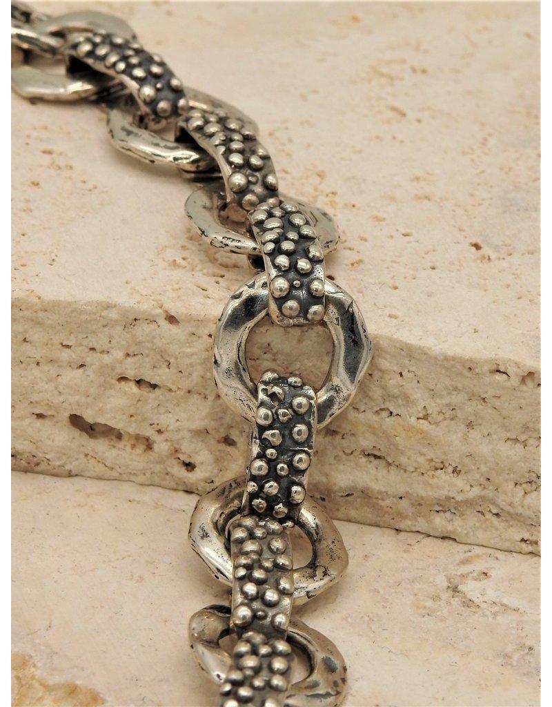 Pam Springall SS Many Dots &  Rounds Link Bracelet