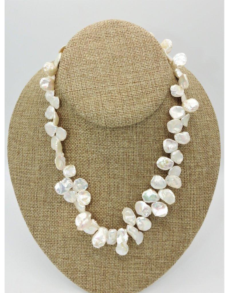 Pam Springall PS-N10C White Keshi Pearls