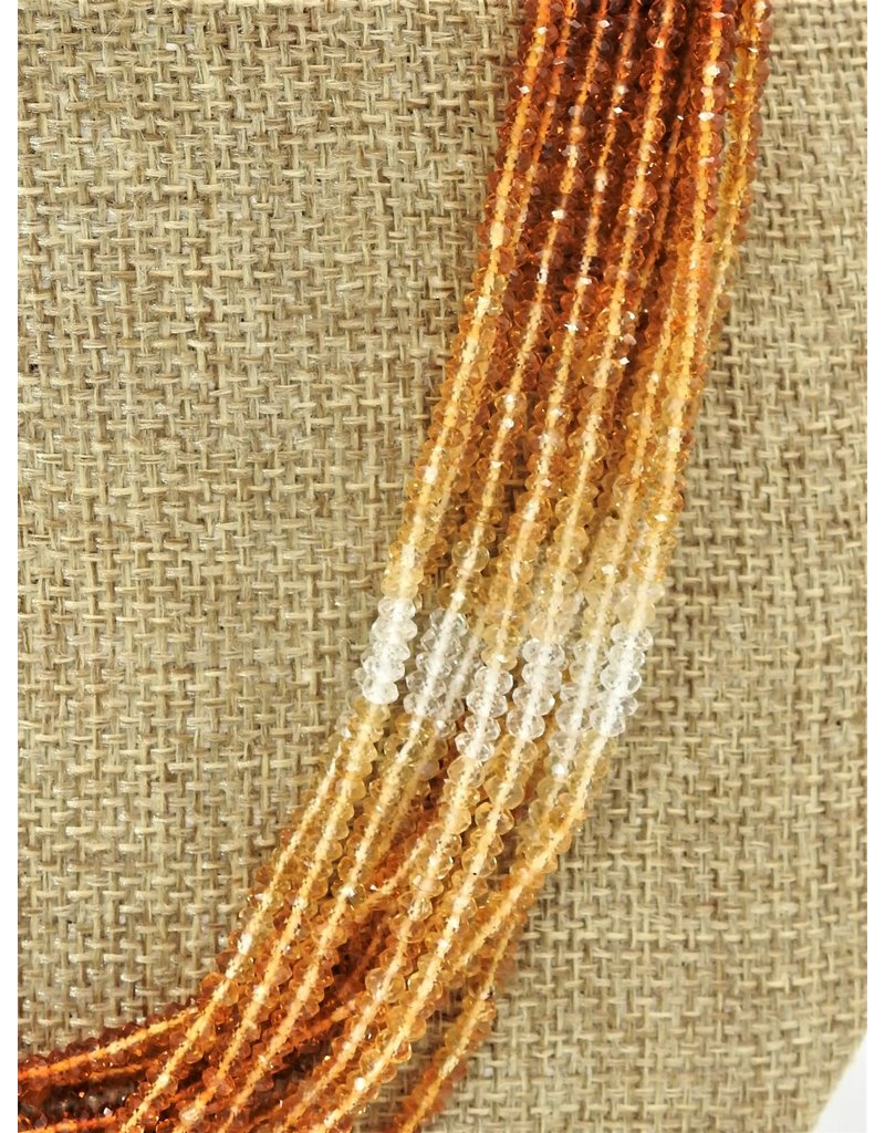 Pam Springall 11 Strand Multi-Colored Citrine, SS clasp