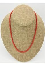 Pam Springall Single Strand Sardinian Coral Necklace