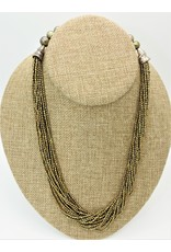Pam Springall PS-N1C 20 Strand Olive Seed Pearls