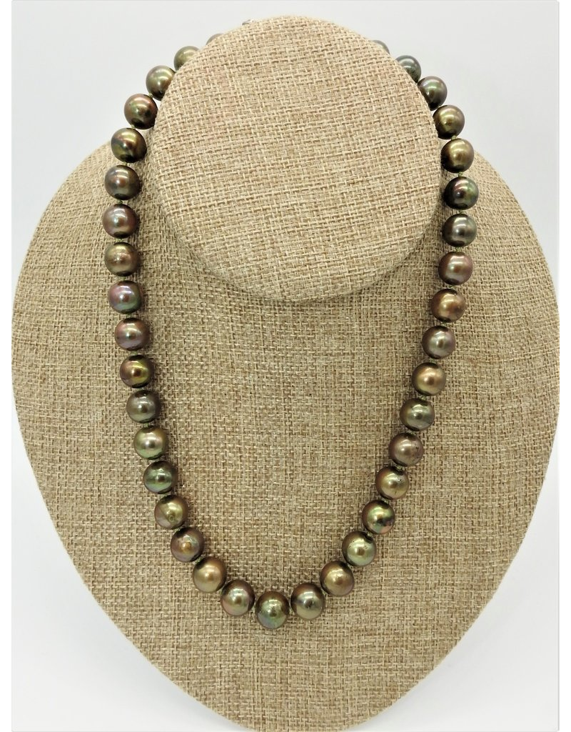 Pam Springall PS-N21C Green Rnd Pearls