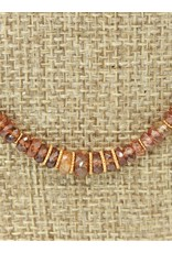 Pam Springall Brown Zircon Disc Beads w/18K clasp