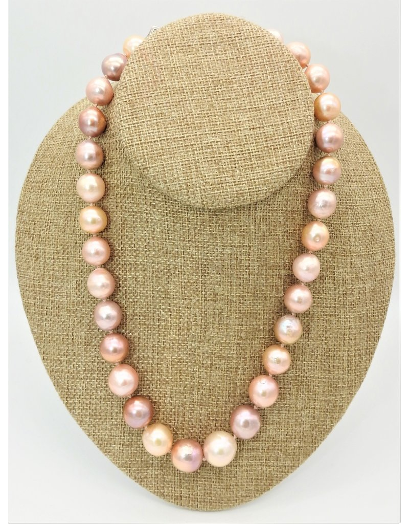 Pam Springall Pink Tissue Neucleated Pearls Necklace