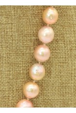 Pam Springall PS-N266C Pink Tissue Neucleated Pearls Necklace