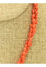 Pam Springall 2 Strand Red Mediterranean Coral Nuggets Necklace