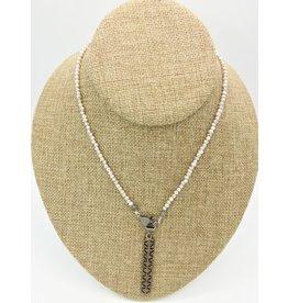"Gildas Gewels 16.5"" Pearls w/Diamond Clasp  & Diamond Bar"