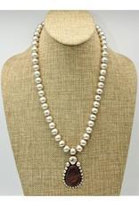 "Ray Van Cleve RVCN6C 19.75"" 13mm Beads w/ Jaspar Pendant"