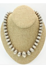 "Ray Van Cleve 22.75"" Overlay, 31mm center Bead Necklace"