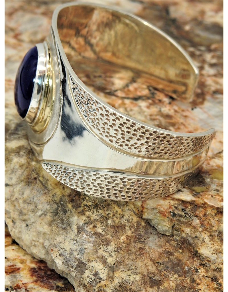Ray Van Cleve Sterling Silver & 18K w/ Lapis Bracelet