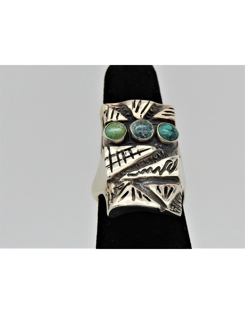 Judy Perlman JP-R30C Sterling Silver w/ Turquoise