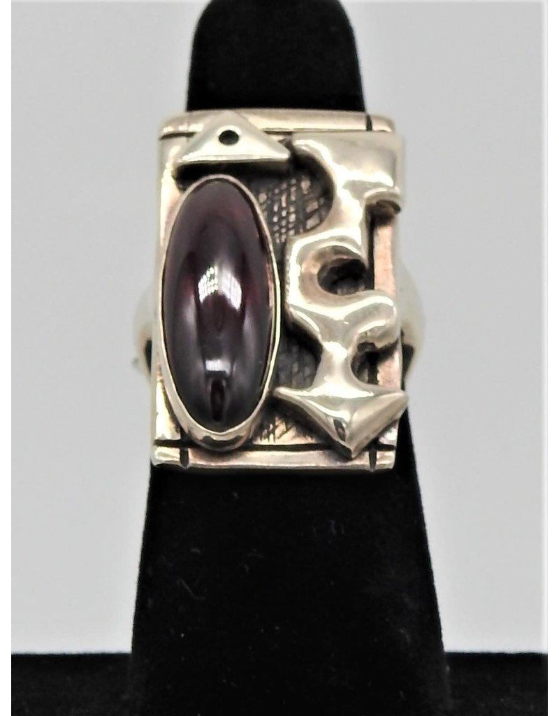 Judy Perlman JP-R29C Sterling Silver w/ Garnet