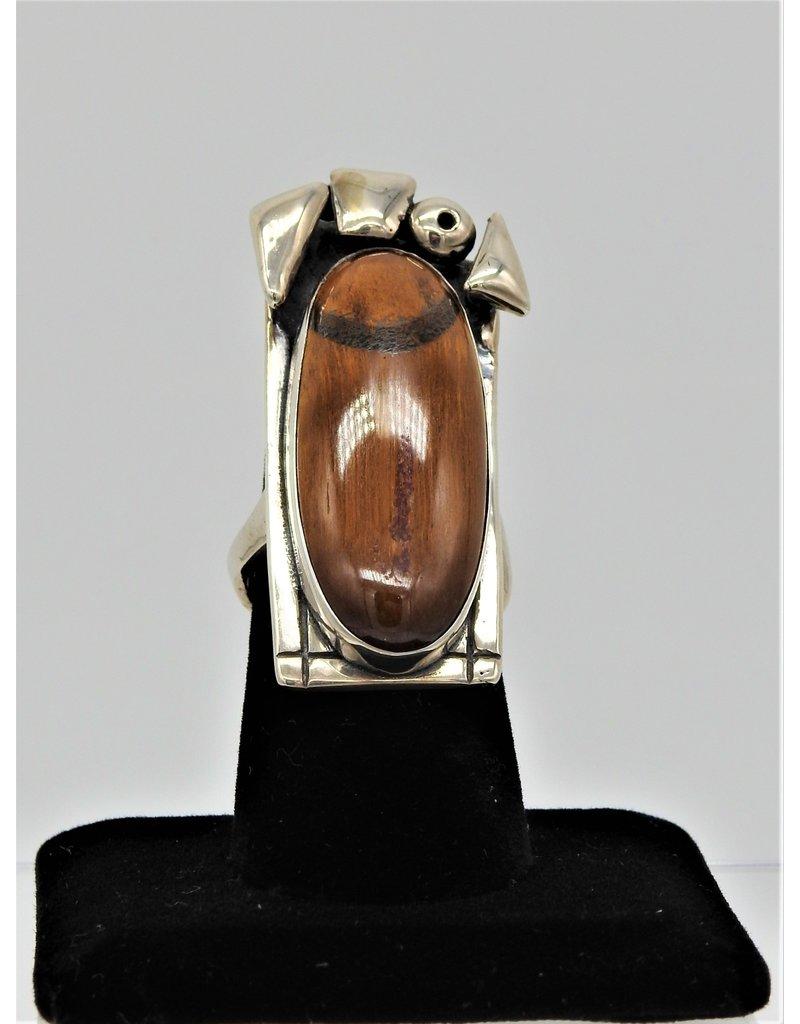 Judy Perlman JP-R25C Sterling Silver w/ Tiger Eye