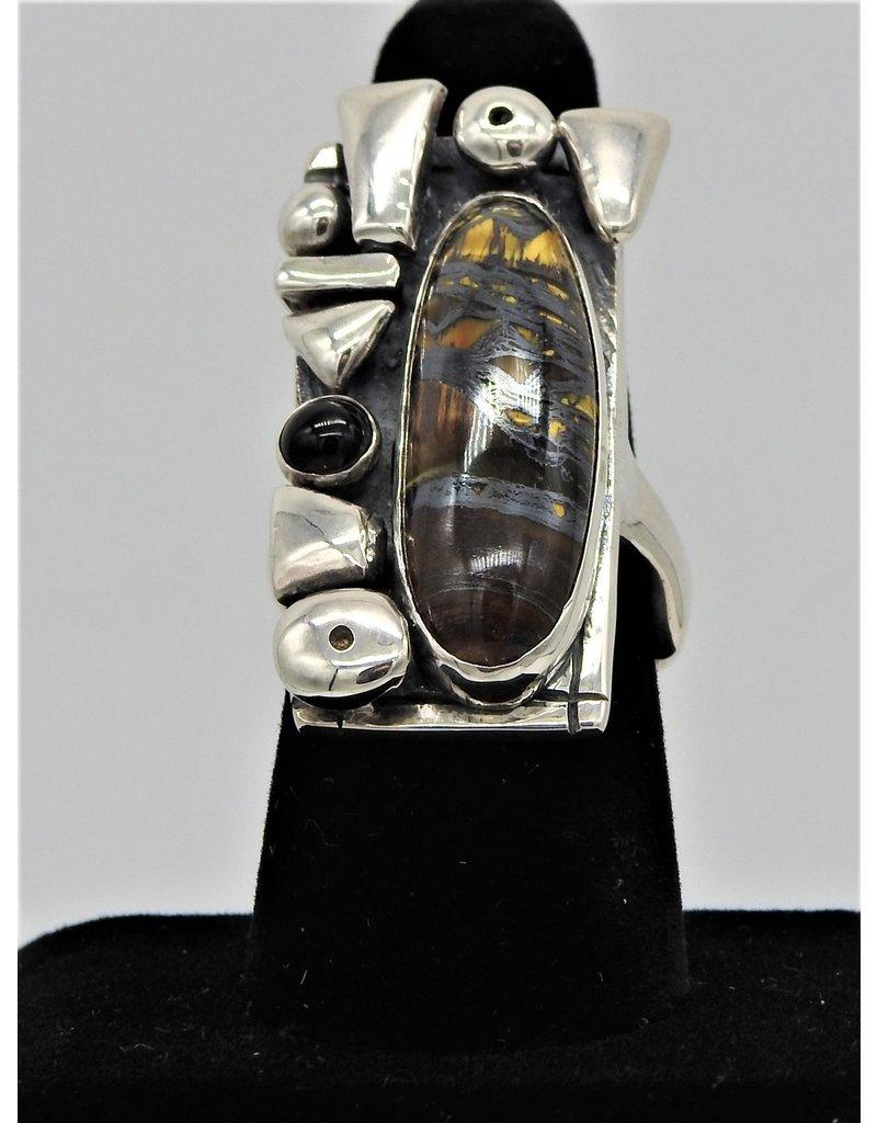 Judy Perlman JP-R45C SS, Iron Tigereye & Onyx  8