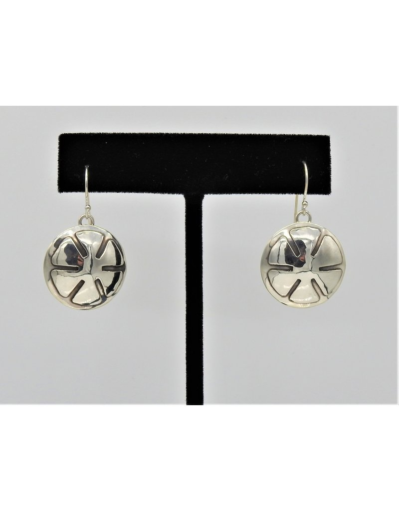Ray Van Cleve Sterling Silver Flower Overlay Earrings