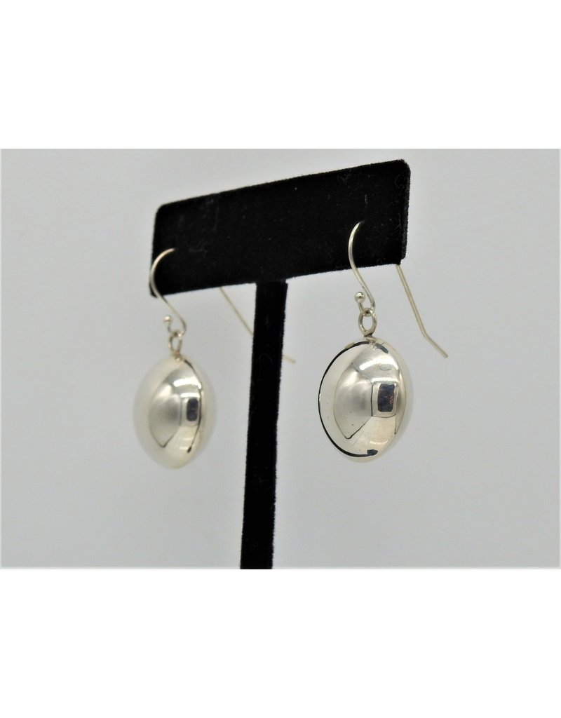 Ray Van Cleve Sterling Silver Dome Earrings
