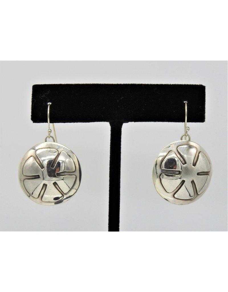 Ray Van Cleve Sterling Silver Flower Overlay Earrings