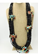 Jolene Bird Black Onyx w/ Inlayed multi stones dragonflies