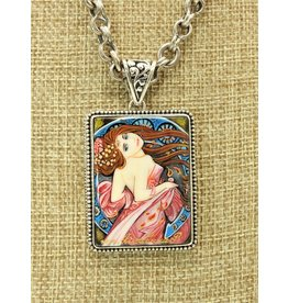 Anna King Designs SS w/The Dance-Alphonse Mucha Pendant