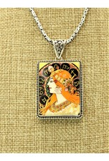 Anna King Designs SS w/ Zodiac-Alphonse Mucha Pendant