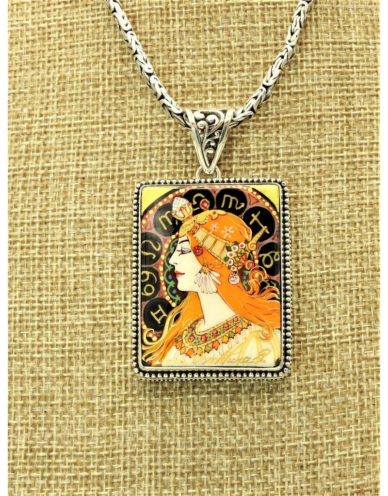 Anna King Designs AK-ADB164Z Zodiac-Alphonse Mucha (Chain sold separately)