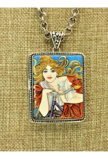 Anna King Designs SS w/Bicycle-Alphonse Mucha Pendant