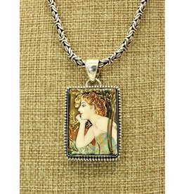 Anna King Designs AK-PB6 Evening Reverie' Alphonse Mucha (Chain sold separately)