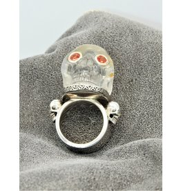 Bliss Rox Skully Clear Quartz SKR302 Skull Ring