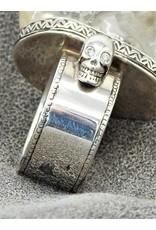 Bliss Rox Skully Clear Quartz SKR302 Skull Ring