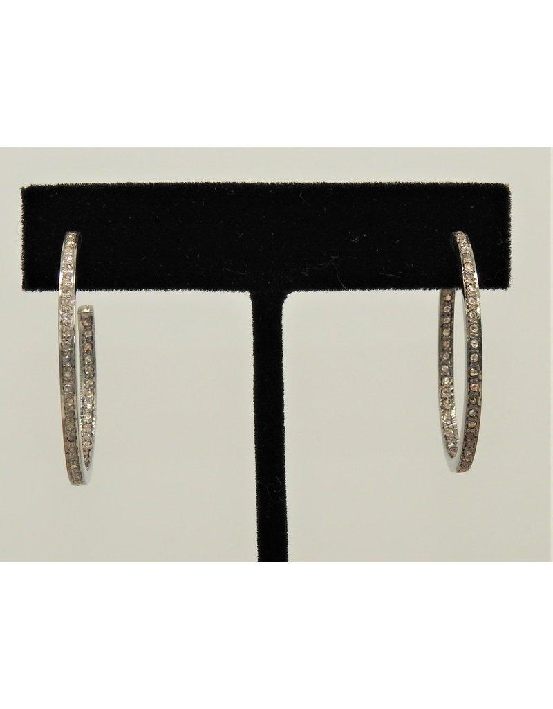 Diva Jewels KVE-7410 Diamond Hoops