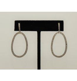 Diva Jewels Elongated Diamond Oval Earrings
