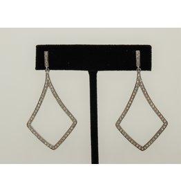 Diva Jewels Elongated Diamond Triangle Earrings
