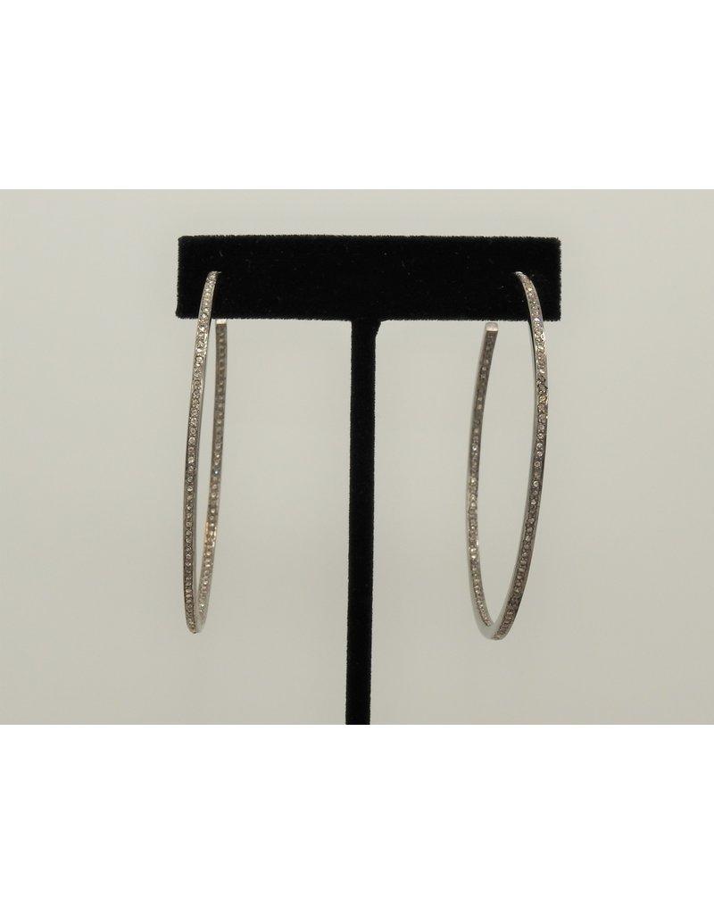 Diva Jewels KVE-7410B Diamond Hoop Earrings